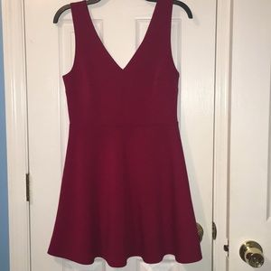 Forever 21 Red Flare Mini Dress